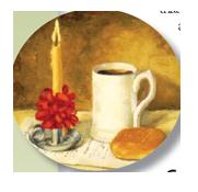 Advent - mug and candle