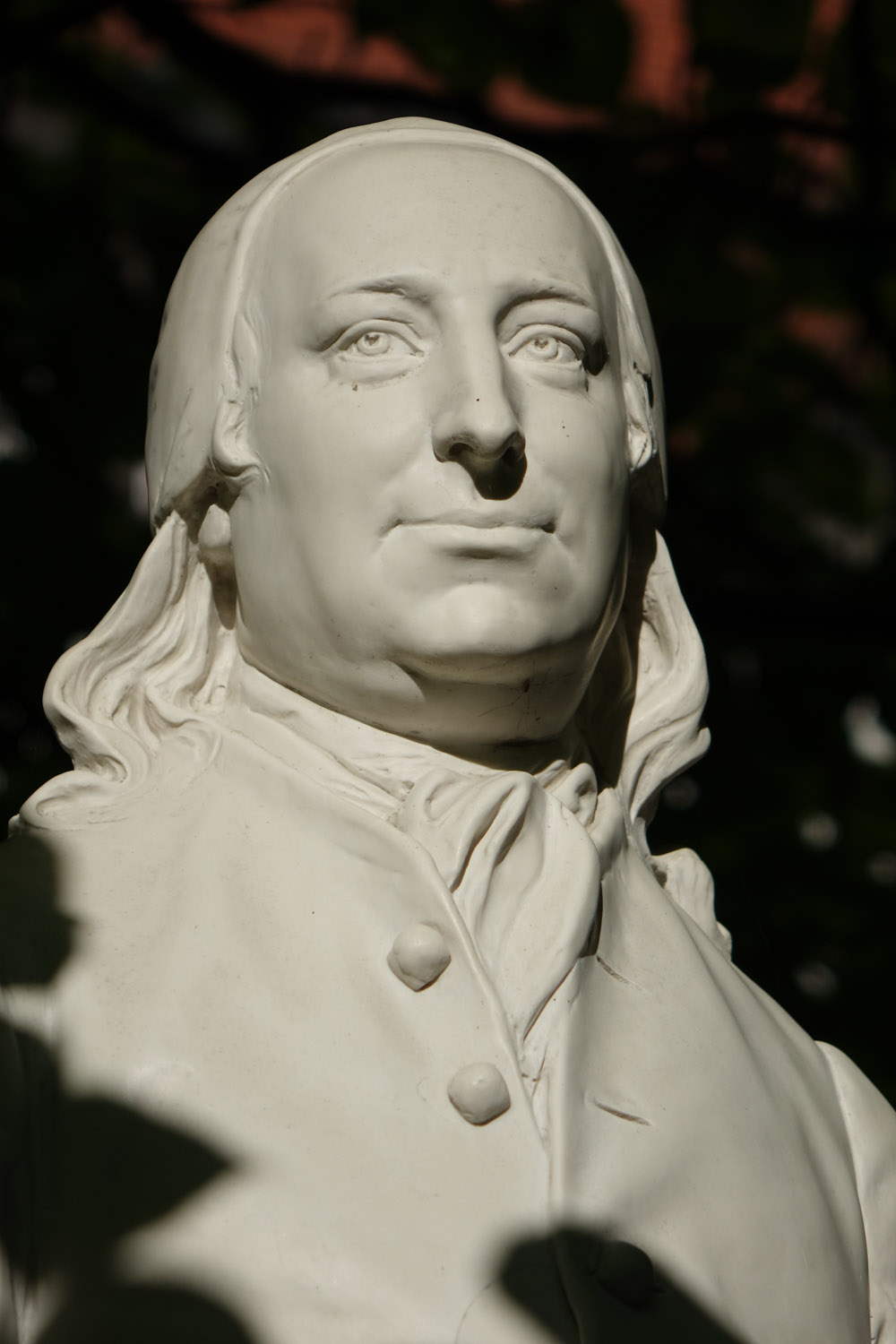 An image of a bust of Count Zinzendorf in Herrnhut, Germany | Photo by Mike Riess / IBOC