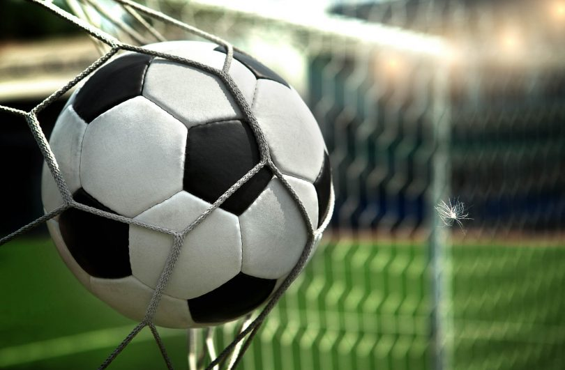 Image of a goal being scored in soccer
