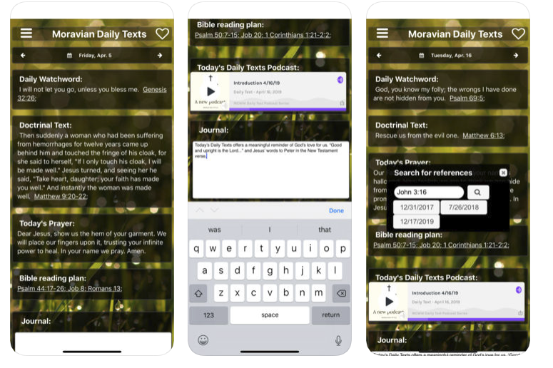 Introducing the Moravian Daily Texts 2019 Mobile App